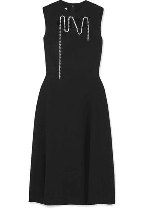 Christopher Kane - Squiggle Cupchain Embellished Cutout Crepe Midi Dress - Black