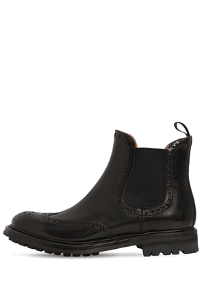 20mm Aura Brogue Leather Boots