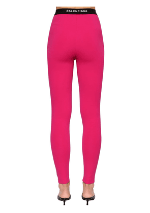Intarsia Logo Tech Jersey Leggings