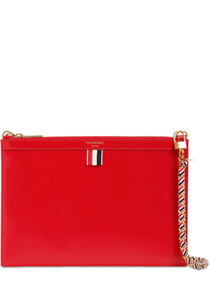 Small Leather Zip Clutch