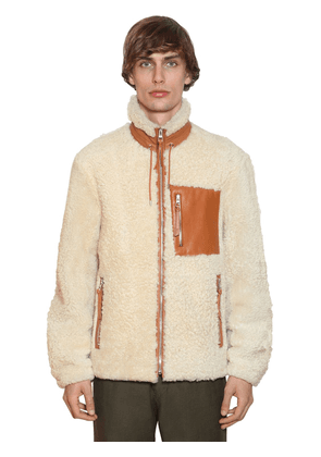 Shearling Jacket W/ Leather Details