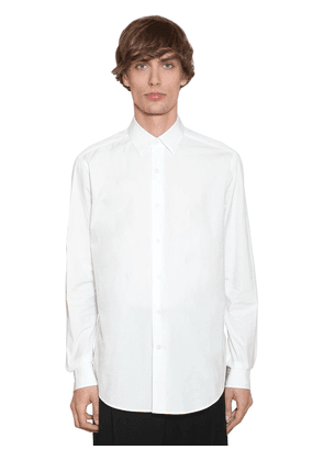 Embroidered Anagram Cotton Poplin Shirt