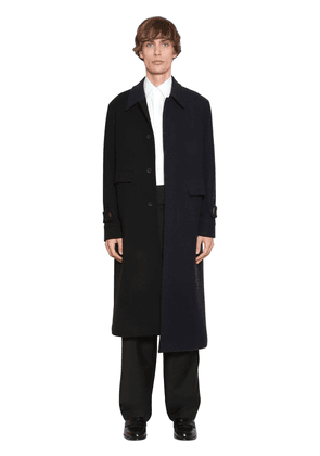 Asymmetric Wool & Cashmere Bicolor Coat