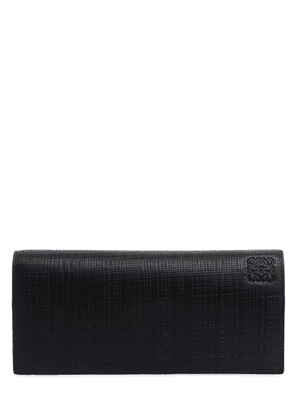 Horizontal Textured Leather Wallet