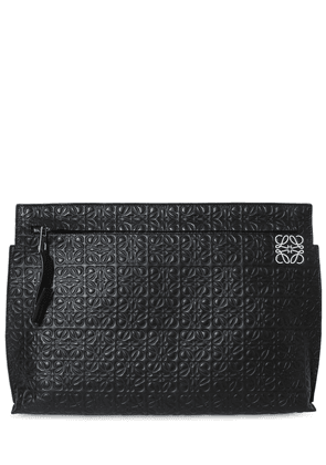 Embossed Leather T Pouch