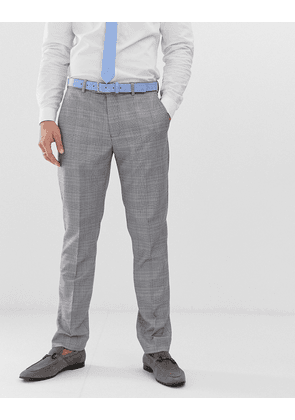 River Island wedding slim suit trousers in grey check