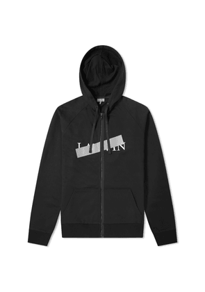 Lanvin Bar Logo Zip Hoody Black