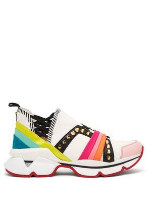 7a4f560024f 123 Run Rainbow Red Sole Sneakers   MILANSTYLE.COM