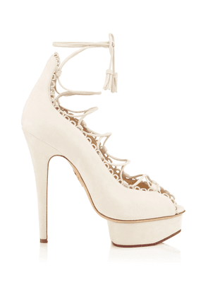 Charlotte Olympia Sale Women - GLADYS IVORY SUEDE 34,5