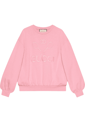 Gucci Oversize sweatshirt with Gucci Tennis - Pink