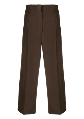 Prada cropped straight trousers - Brown