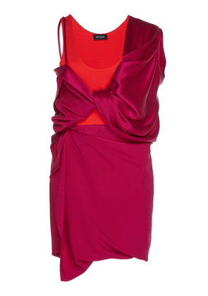 Atlein Hybrid Draped Satin And Crepe Dress
