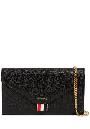 Grained Leather Envelope Wallet