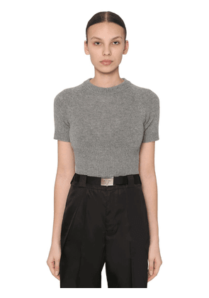 Cropped Cashmere Knit Top