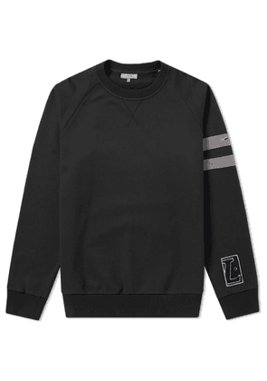Lanvin Stripe Sleeve Sweat Black