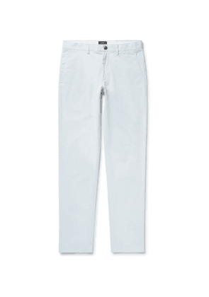 Club Monaco - Connor Slim-fit Cotton-twill Chinos - Light blue