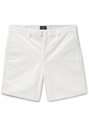Club Monaco - Baxter Slim-fit Stretch-cotton Twill Shorts - White