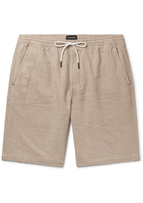 Club Monaco - Slim-fit Linen And Cotton-blend Twill Drawstring Shorts - Sand