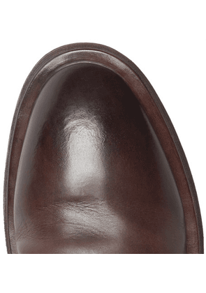 Marsell - Mentone Leather Derby Shoes - Brown
