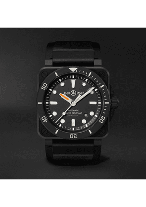 Bell & Ross - Br 03-92 Diver Automatic 42mm Ceramic And Rubber Watch - Black