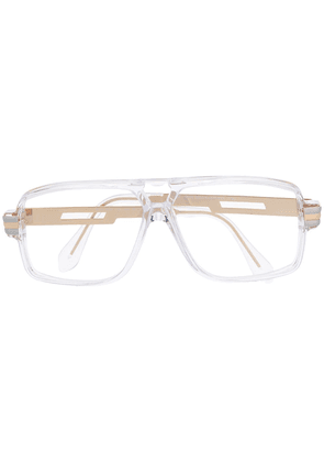 Cazal rectangular frame glasses - White