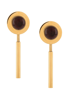 Marni disk with drop back earrings - Gold