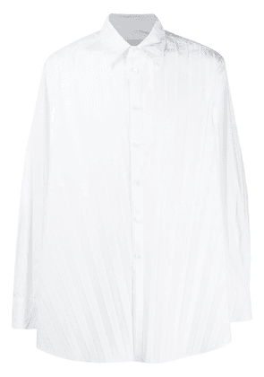 Valentino long-sleeve pleated shirt - White