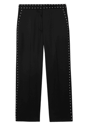 Burberry Studded Silk Satin Tailored Trousers - Black
