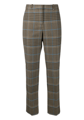 Givenchy check straight-leg trousers - Brown