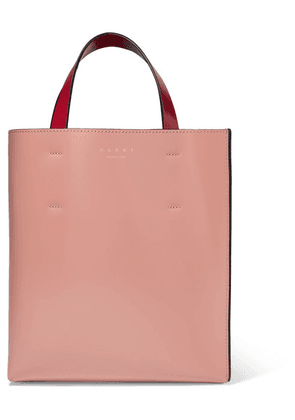Marni - Museo Small Color-block Leather Tote - Pink