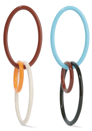 Cult Gaia - Tria Acrylic Hoop Earrings - Blue