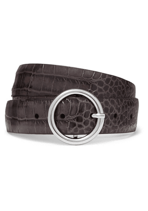 Anderson's - Croc-effect Leather Belt - Light gray