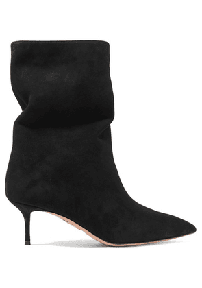 Aquazzura - Very Boogie 60 Suede Ankle Boots - Black