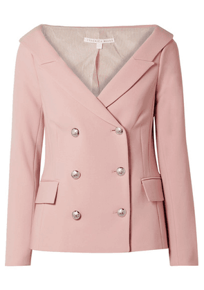 Veronica Beard - Frayne Double-breasted Crepe Blazer - Baby pink