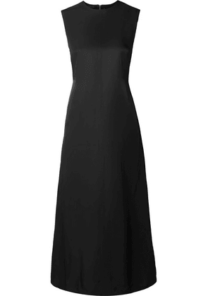 Helmut Lang - Open-back Satin-crepe Midi Dress - Black