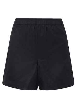 Helmut Lang - Coated Cotton-twill Shorts - Midnight blue