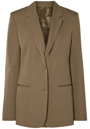 Helmut Lang - Layered Wool-twill Blazer - Army green