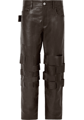 Bottega Veneta - Intrecciato Leather Pants - Brown