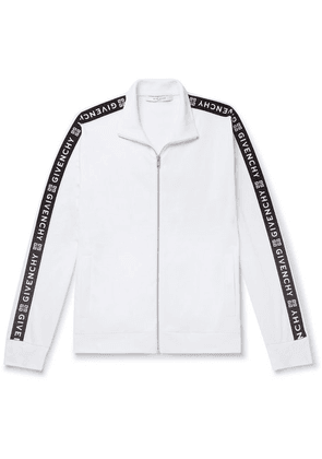 Givenchy - Webbing-trimmed Tech-jersey Track Jacket - White
