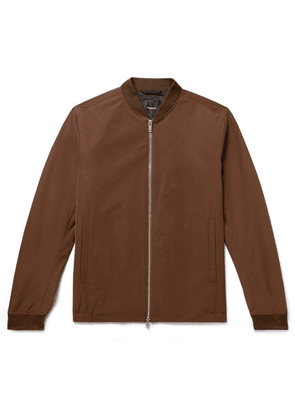 Theory - Amir Slim-fit Shell Bomber Jacket - Brown