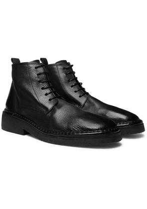 Marsell - Full-grain Leather Boots - Black