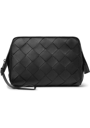 Bottega Veneta - Intrecciato Leather Wash Bag - Black