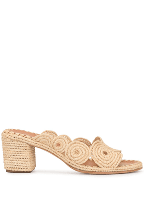 Carrie Forbes Ayoub mules - Neutrals