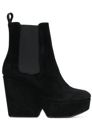 Clergerie Beatrice wedge boots - Black