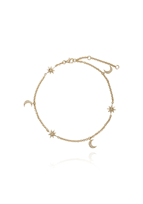 Shay Moon and starlet anklet - Metallic