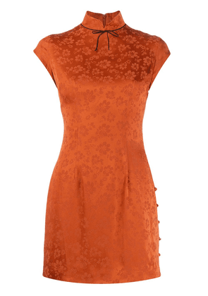 Alexa Chung floral pattern dress - Orange