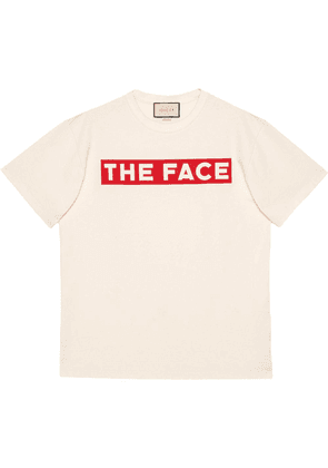 Gucci Oversize T-shirt with 'The Face' - White