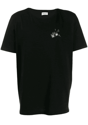 Saint Laurent stereo print T-shirt - Black