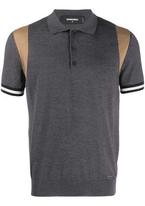 Dsquared2 contrast shoulder polo shirt - Grey