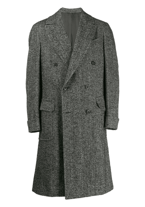 Caruso double-breasted coat - Brown